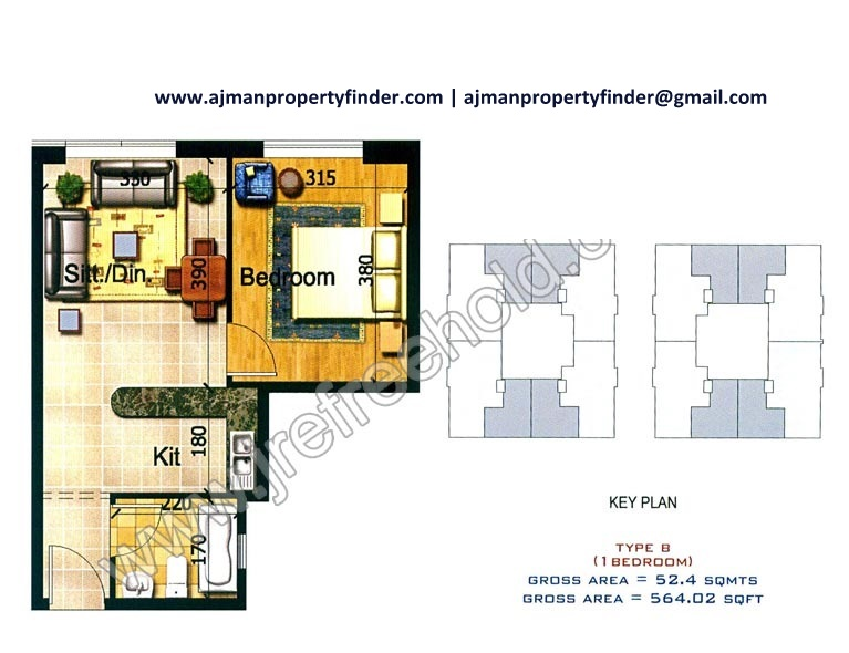 Almond Tower Properties In Ajman Freehold Property