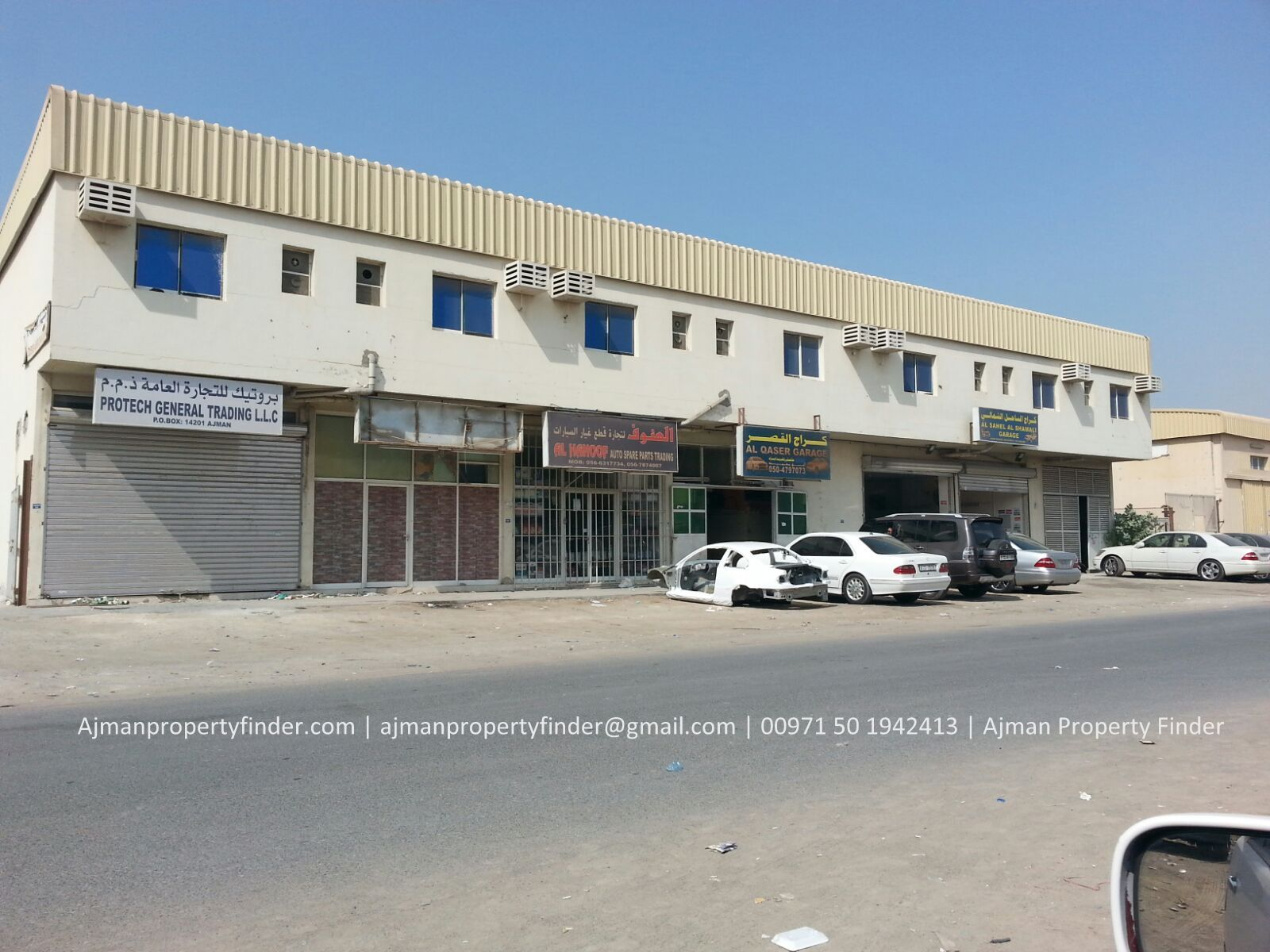 1700 Sqft Small Warehouse for Rent in Ajman | Al Jurf Area – Without Electricity for Storage Purpose