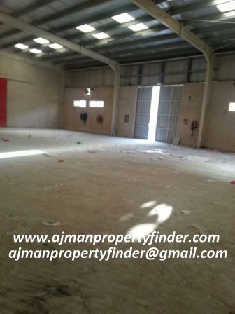 Big commercial warehouse for rent in Ajman