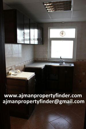 Kitchen view in Al Zahra Flat for rent in ajman