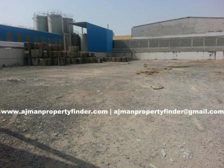 Open Yard for rent in ajman in Al Jurf Area