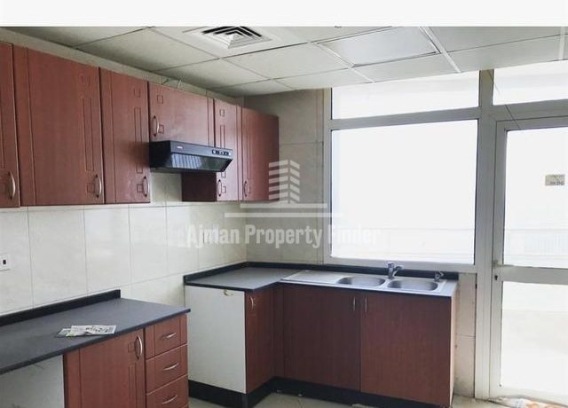 2 BHK flat in Horizon Towers Ajman - Kitchen View