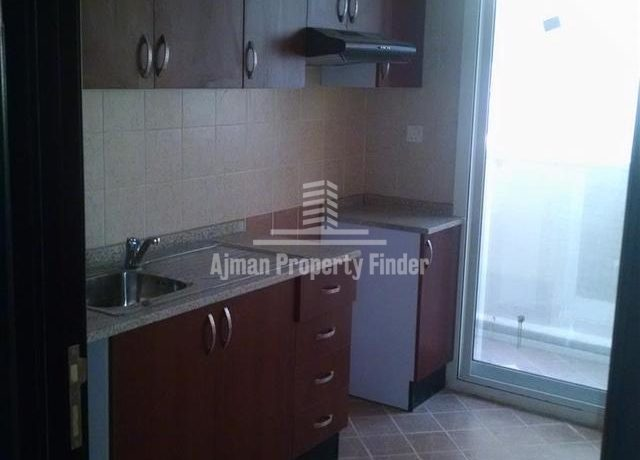 Kitchen view in 2bhk in jasmine towers garden city ajman (1)