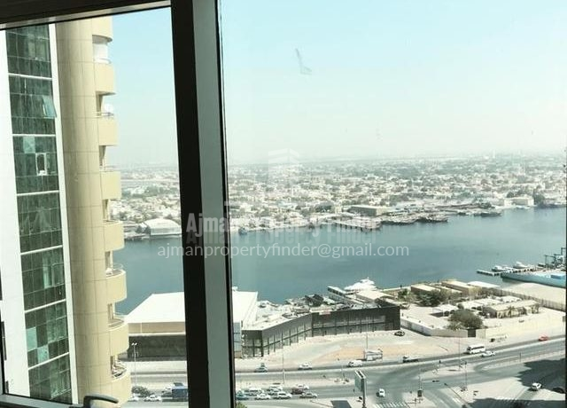 2 BHK flat in Horizon Towers Ajman - ourside view from room