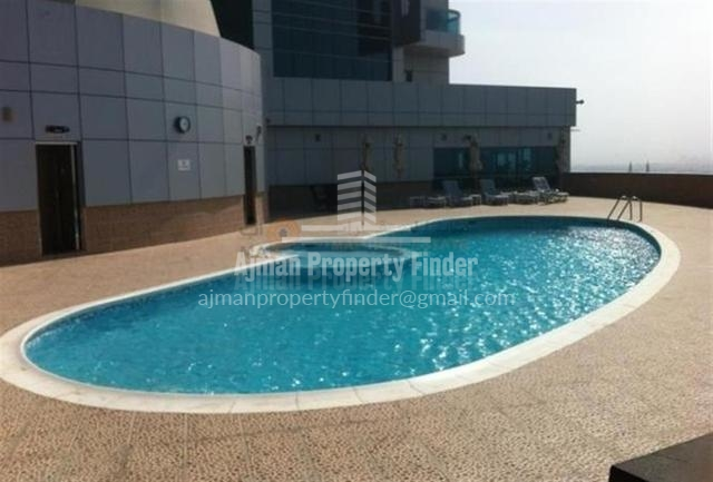 Swimming Pool view - Horizon Tower ajman